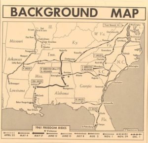 Bus Museum Freedom Riders Map